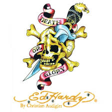 Ed Hardy Car Vinyl Sticker Death Or Glory Cling Bling Small
