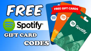 spotify gift card codes redeem