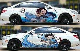 Anime Demon Slayer Kimetsu No Yaiba Car Door Body Graphics Decal Vinyl Sticker Ebay