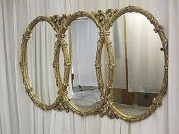 triple mirror mirror oval mirror