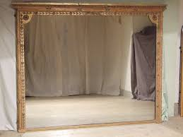 antique gilt overmantle mirror 6ft