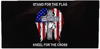 Amazon Com K S Novelties Stand For The Flag Kneel For The Cross Decal Sticker Garden Outdoor