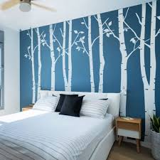 Amazon Com N Sunforest 7 8ft White Birch Tree Vinyl Wall Decals Nursery Forest Family Tree Wall Stickers Art Decor Murals Set Of 8 Home Kitchen
