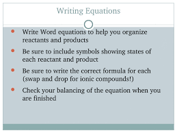 ch 8 chemical equations and reactions
