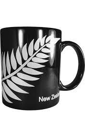 Ceramic New Zealand Silver Fern Coffee Mug Silverfernz Com