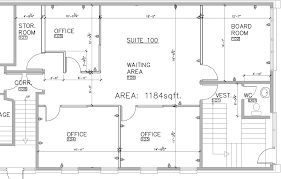 office floor plan with plans for