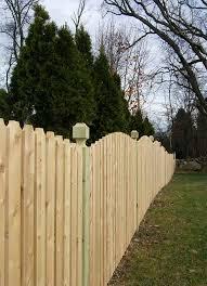 Cedar Narrow Space Dog Ear Picket Kuperus Custom Fence