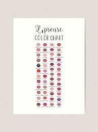 Lipsense Stickers Lipsense Colors Lipsense Color Chart Lipsense Colors Sticker Lipsense Colors 50 50 Colors Lipsense Lip Chart Lipsense Distributor Art Print By Beebeachey Redbubble