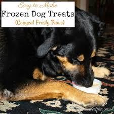 frozen dog treats copycat frosty paws
