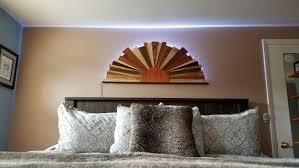 backlit sunburst large wood wall