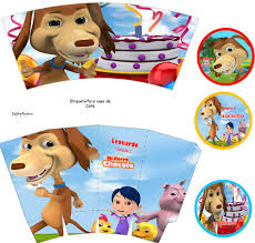 Kit Imprimible El Perro Chocolo Candy Bar Invitaciones 2 000