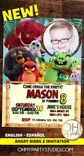 Angry Birds 2 Movie Invitation Tarjetas De Cumpleanos