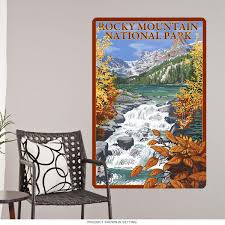 Rocky Mountain Natl Park Stream Wall Decal At Retro Planet