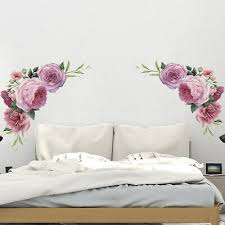 Wall Stickers Peony Flower Vinyl Art Decal Mural Removable Home Decor Sticker Ebay