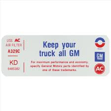 1967 87 Chevy Gmc Truck Keep Your Gm Truck All Gm Decal