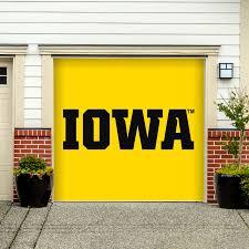 iowa hawkeyes garage door officially