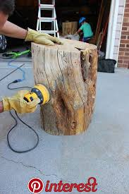 diy tree stump table are you wondering