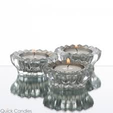dainty mirrored tealight candle holder