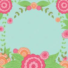 Floral Vintage Oval Frame Cute Retro Flowers For Wedding