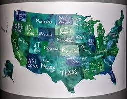Amazon Com Us Map Peel N Stick Wall Decal Dcwv Gc 521 00461 Home Kitchen