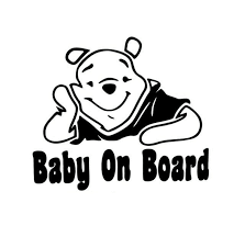 Winnie Pooh Baby On Board Sticker Decal Baby On Board Store
