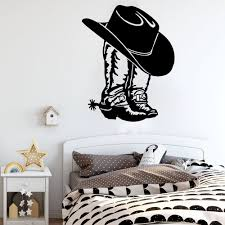Cowboy Cowgirl Boot Hat Western Shoe Car Laptop Wall Sticker Decal Cowboy Cowgirl Boot Vinyl Decor Wall Stickers Aliexpress