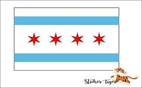 Chicago Illinois Flag Bumper Sticker Decal 5 X 3 Window Bumper Stickers Ebay