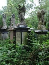 Abney Park Cemetery and Catacombs in Stoke Newington. Built in the early  18th century by Lady Mary Abney.   Cemetery monuments, Cemetery statues,  Cemetery angels