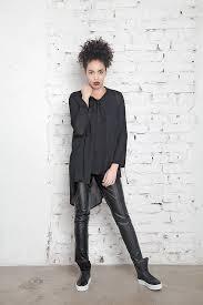 faux leather pants black leggings women