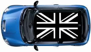 1set 4pcs British Flag Roof Vinyl Decal Graphic Mini Cooper S Jcw White Color Oracal Volkswagen Phaeton Mini Cooper S Vinyl Decals