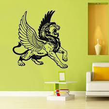 Wall Decal Vinyl Decal Sticker Decor Art Bedroom Lion Wings Tiger Cat Stickersforlife