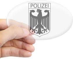 Amazon Com Cafepress Polizei German Police Oval Bumper Sticker Euro Oval Car Decal Home Kitchen