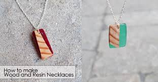 how to make wood and resin necklaces
