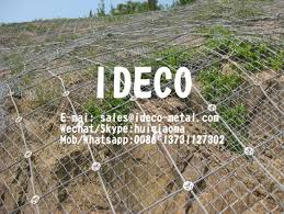 Diagonal Wire Cable Nets For Rockfall Protection High Tensile Steel Wire Ropenet Slopes Stabilization