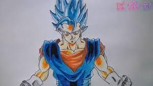 cách vẽ tranh vegito blue mới nhất how to draw vegito new dragon ...
