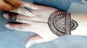 mehndi design simple and beautiful back hand