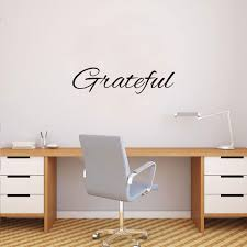 Amazon Com Inspirational Quotes Wall Art Decal Grateful Vinyl Lettering Words 6 X 23 Motivational Sayings Home Decor Living Room Kitchen Bedroom Removable Sticker Decals Arts Crafts Sewing