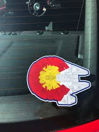 Colorado Millennium Falcon Sticker Colorado Flag Sticker Star Wars