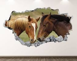 Horse Wall Decals Etsy