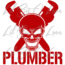Plumber Skull And Cross Wrench Vinyl Decal Lilbitolove
