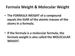 ppt formula weight molecular weight