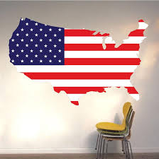American Flag Wall Decal Patriotic Wall Decor Large Us Flag Stickers American Wall Designs