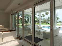 sliding glass doors open to patio and