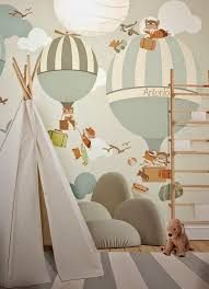 I De A Hot Air Balloons In The Kid S Room Kids Room Wallpaper Kid Room Decor Room Wallpaper