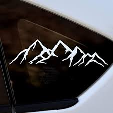 Amazon Com White Mountain Sticker Vinyl Die Cut Window Decal For Car Truck Laptop Arts Crafts Sewing