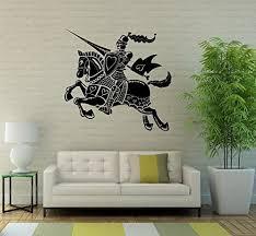 Amazon Com Knight Wall Decal Chevalier Vinyl Sticker Medieval Interior Home Bedroom Decor Door Sticker 6kn01t Kitchen Dining