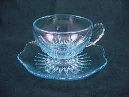 radiance cup saucer set ice blue