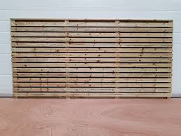 Contemporary Double Sided Slat Panels Hillsborough Fencing