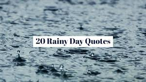 literary rainy day quotes writers write
