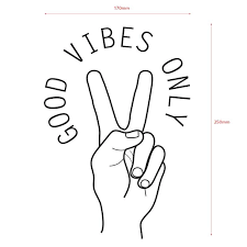 Good Vibes Only Vinyl Wall Decal Fun Stickers For Windows Mirrors Pikkii